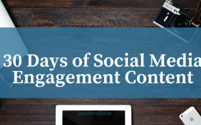 30 Days of Social Media Engagement Content