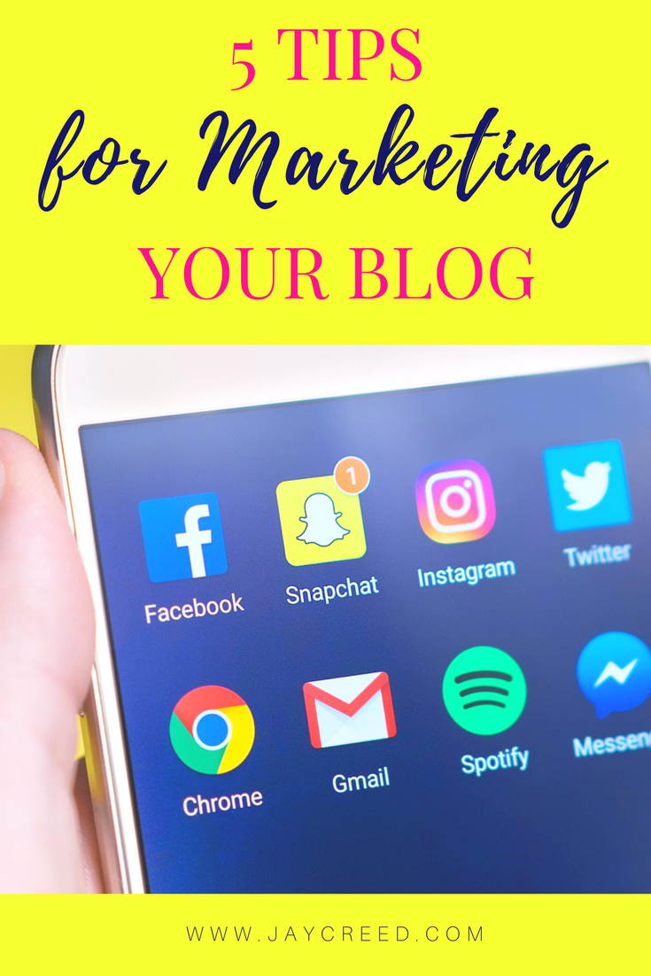 I'll share 5 tips that will you to market your blog and does not require you to spend money on ads to promote yourself.