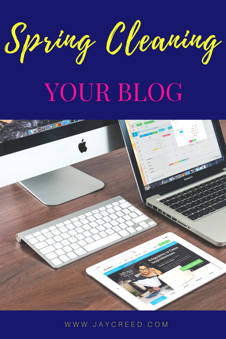 Spring Cleaning Your Blog - Spring is in here and I have been slowing room-by-room, spring cleaning my home. Today, I'll start working on spring cleaning my blog.