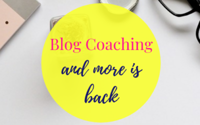 Blog Coaching and more is back