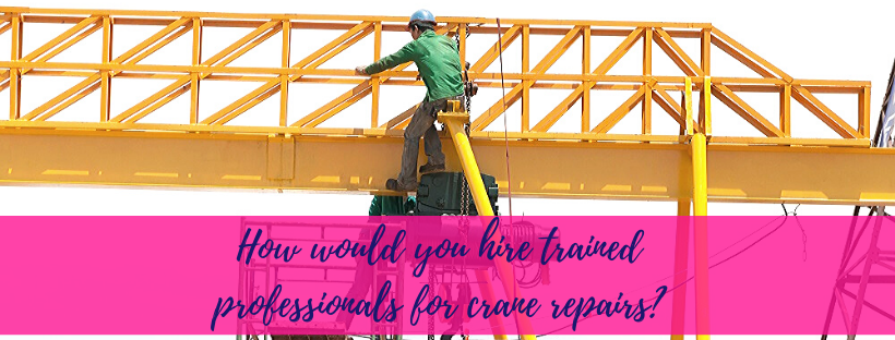 How Would You Hire Trained Professionals For Crane Repairs?